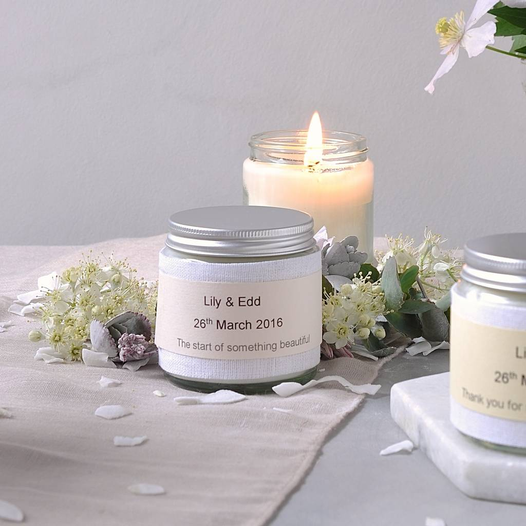 personalised wedding favour scented candles pack of 20 by marigold ...