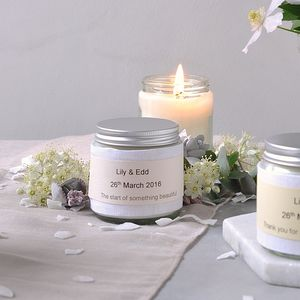 Personalised Wedding Favour Scented Candles