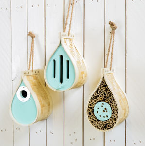 Dewdrop Butterfly, Bee And Nest Box Choice Of Three - 60th birthday gifts