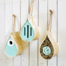 Dewdrop Butterfly, Bee And Nest Box Choice Of Three