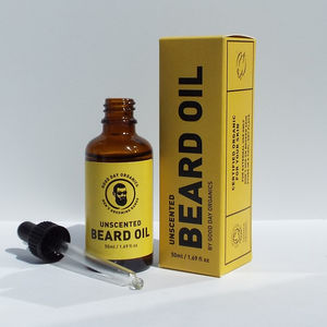 Men's Sensitive Skin Unscented Beard Oil UK Made