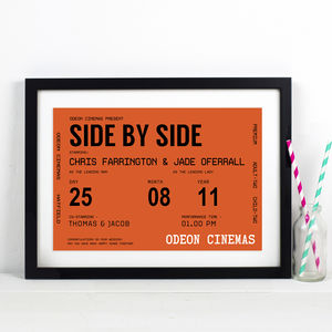 Personalised Cinema Ticket Print - gifts for him
