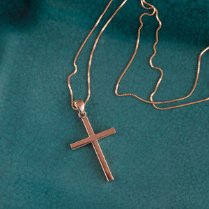 9ct Gold Cross Necklace* - children's jewellery
