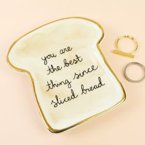 Bread Trinket Dish - jewellery storage & trinket boxes