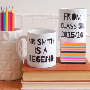 Personalised My Teacher Is A Legend Mug - gifts for teachers