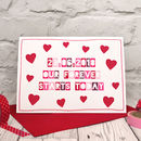 'Our Forever Starts Today' Personalised Wedding Card