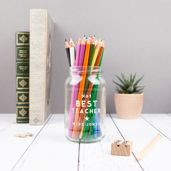 Teacher Personalised Desk Tidy Jar