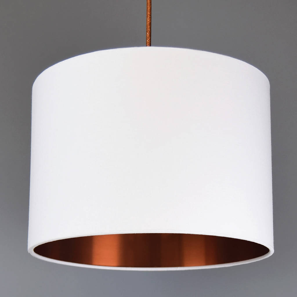 Brushed Copper Lined Lamp Shade 40 Colours By Quirk