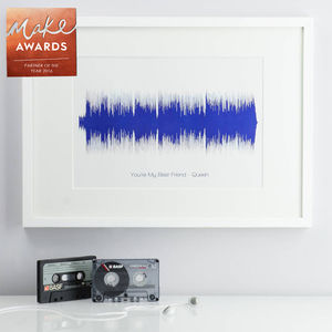Personalised Song Sound Wave Print - shop by subject