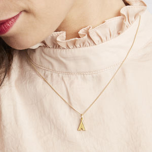 Art Deco Initial Necklace - gifts for teenagers