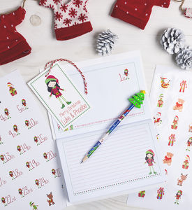 Personalised Christmas Elf Memory Book Bundle