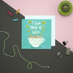 Coffee Love Card - sale