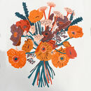 Orange Flower Riso Print