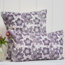 Hellebore Block Printed Cotton Cushions