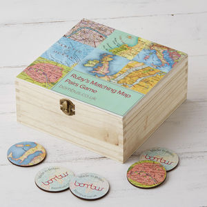 Matching Pairs Map Memory Game - more