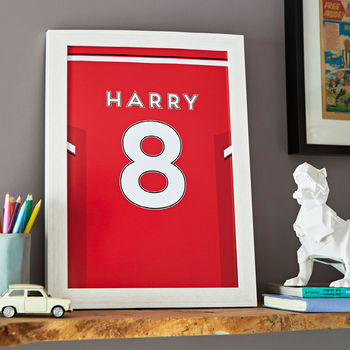 Personalised Football Shirt Print, Unframed