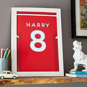 Personalised Football Shirt Print - best gifts for boys