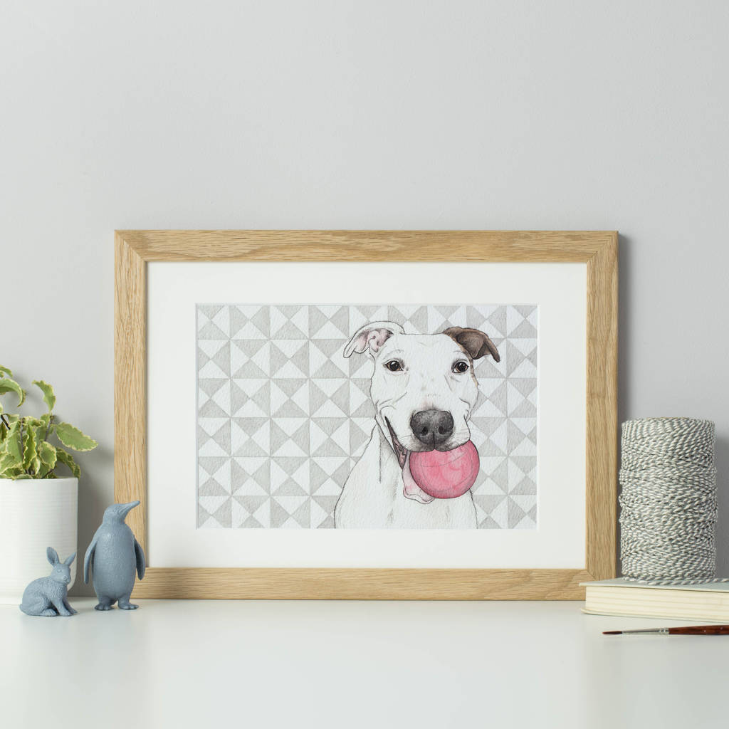 Personalised Geometric Background Pet Portrait