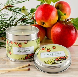 Cider Festival Spiced Apple Scented Candle - candles & home fragrance