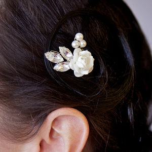 Ivory Rose Bridal Hairpin - bridal hairpieces