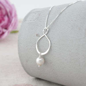 Aida Ivory Pearl And Sterling Silver Pendant - necklaces & pendants