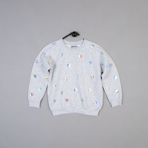 Polkadot Sweatshirt In Grey