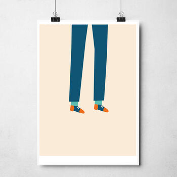 'Happy Legs' Art Print