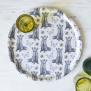 'Foxes And Bees' Birchwood Serving Tray