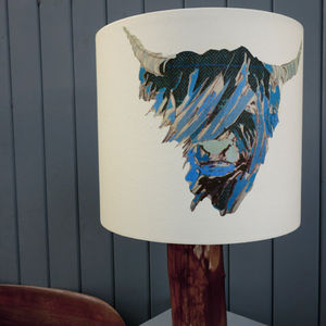 'Bloo Coo' Lampshade - bedroom