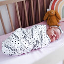 Personalised Polka Dot Baby Organic Swaddle Blanket