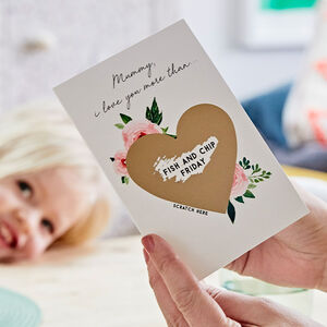 Personalised Mothers Day Scratch Card