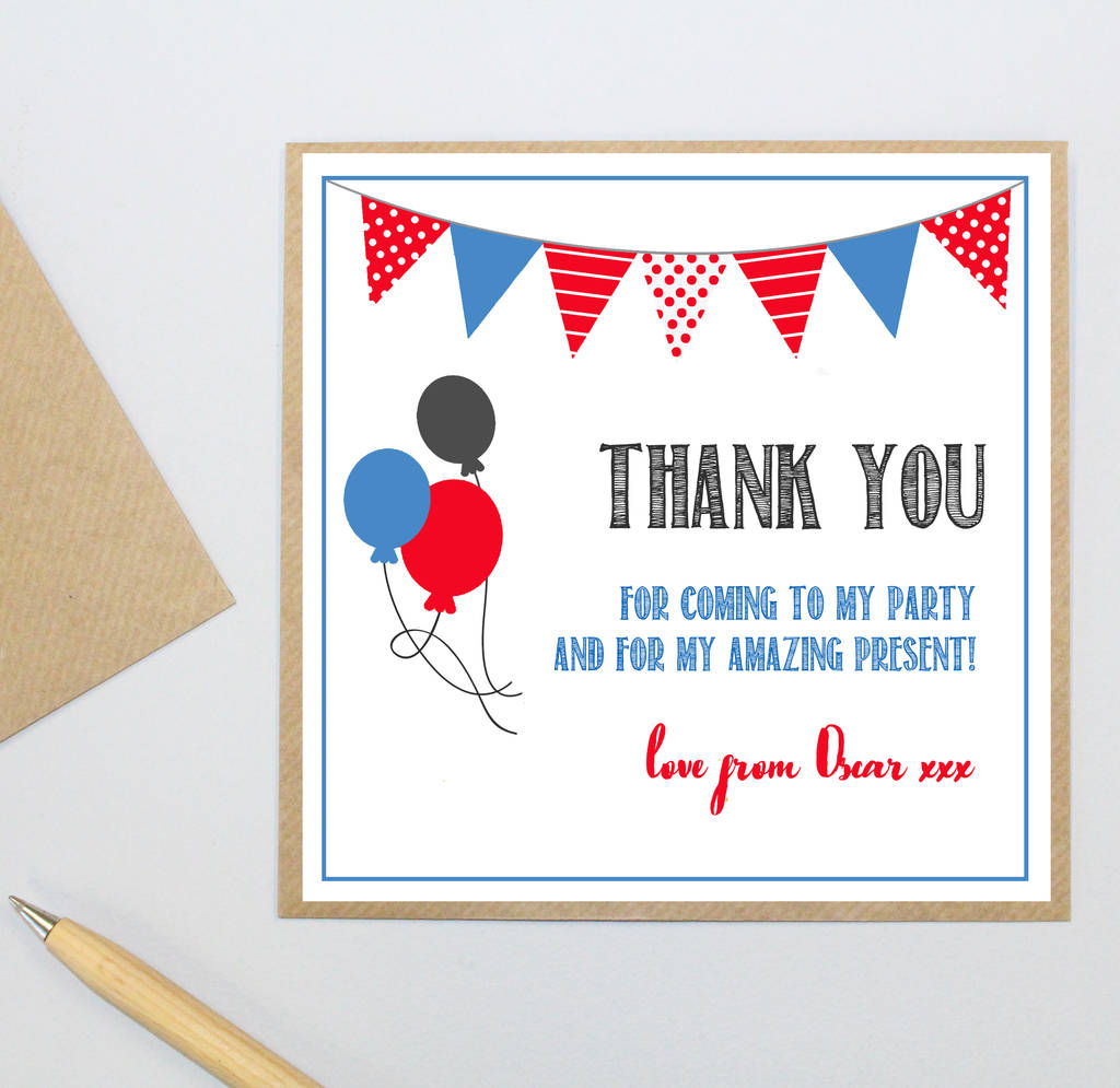 Personalised Party Thank You Postcards By Precious Little Plum
