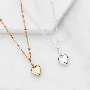 Gold Or Silver Delicate Heart Pendant Necklace - best valentine's gifts for her