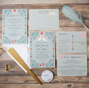 Birds Of A Feather Wedding Stationery - table plans