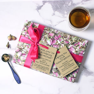 Monthly Tea Subscription Gift Wrapped - gifts for grandparents