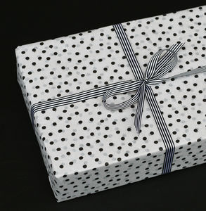 Black And White Spotty Tissue Paper - ribbon & wrap