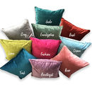 velvet colourful cushion gift
