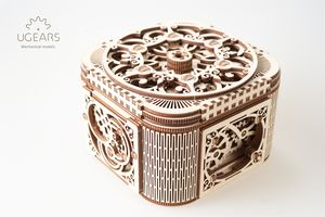 Treasure Box Wooden Self Assembly Kit Ugears - jewellery storage & trinket boxes