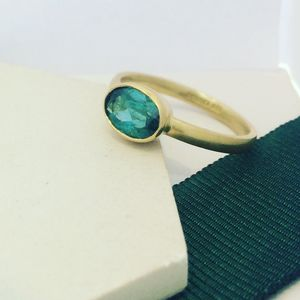 Gold Tourmaline Ring - rings