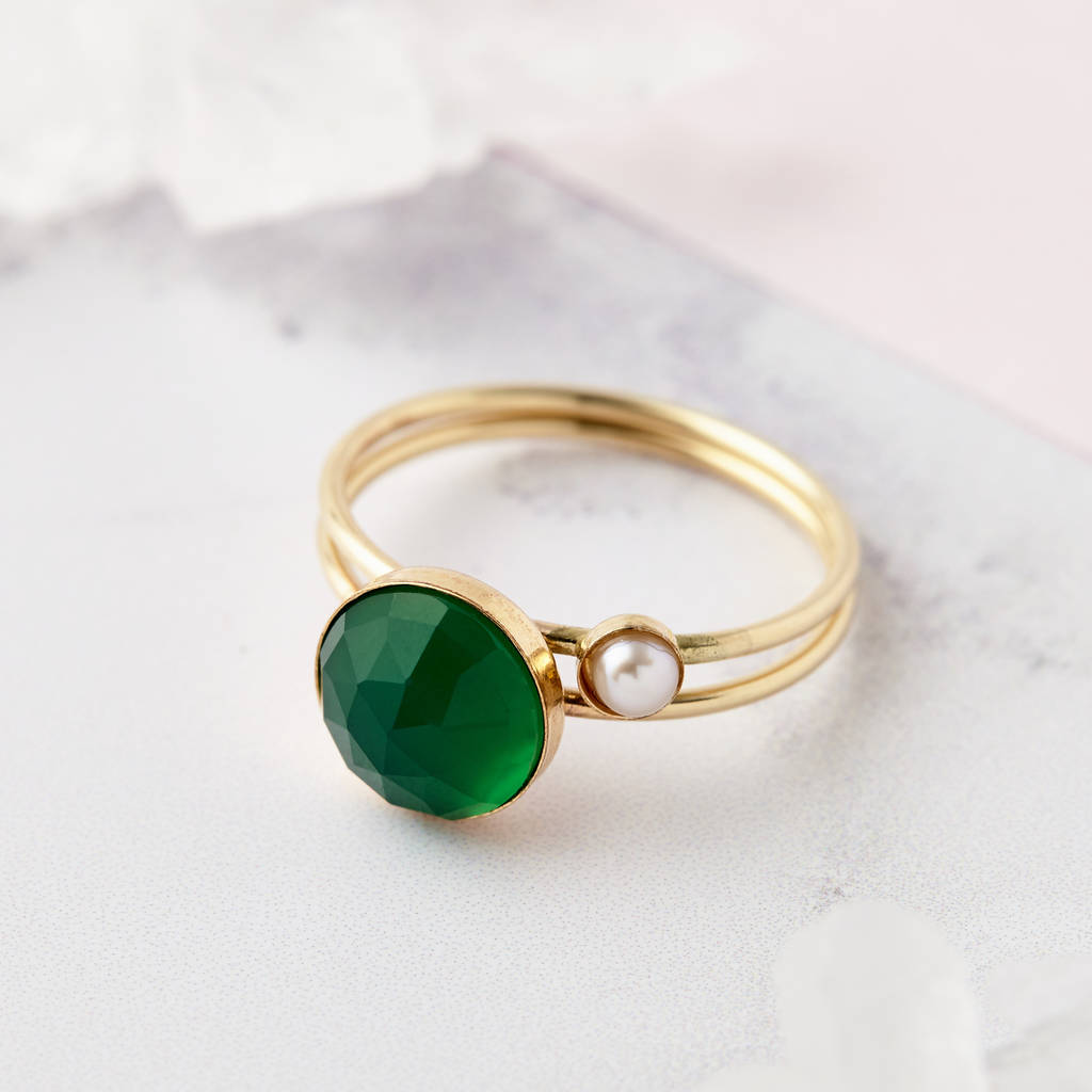 product dinner rings big green plated cocktail emerald stone setting faceted square cushion delicate in pave ring solitaire gold resin acrylic