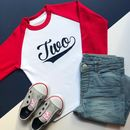 'Two' Birthday Raglan Baseball Top