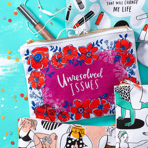 'Unresolved Issues' Pouch - make-up & wash bags