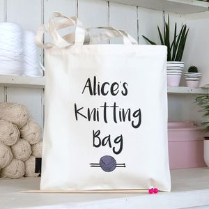 Personalised Knitting Bag