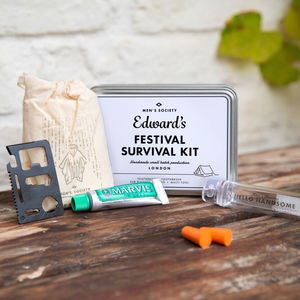 Personalised Music Festival Survival Kit - 30th birthday gifts