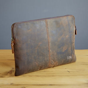 Personalised Buffalo Leather 13 Inch Laptop Case - laptop bags & cases