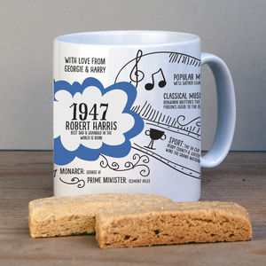 Personalised 1947 Mug For 70th Birthday - kitchen