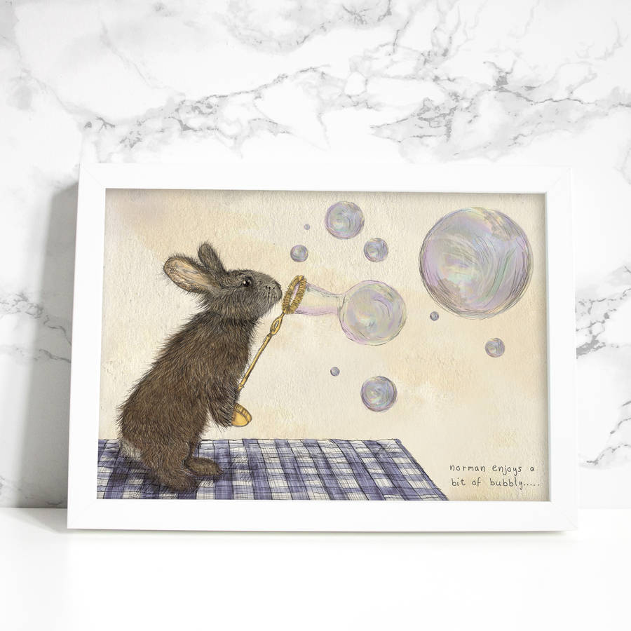 'Norman The Rabbit' Signed Art Print