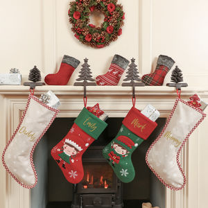 Personalised Elf Christmas Stocking Collection - stockings & sacks