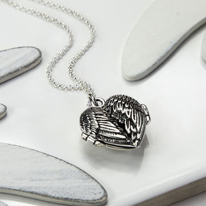 Silver Love Wings Locket - lockets