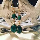 Green Chalcedony Earrings Drop Earrings